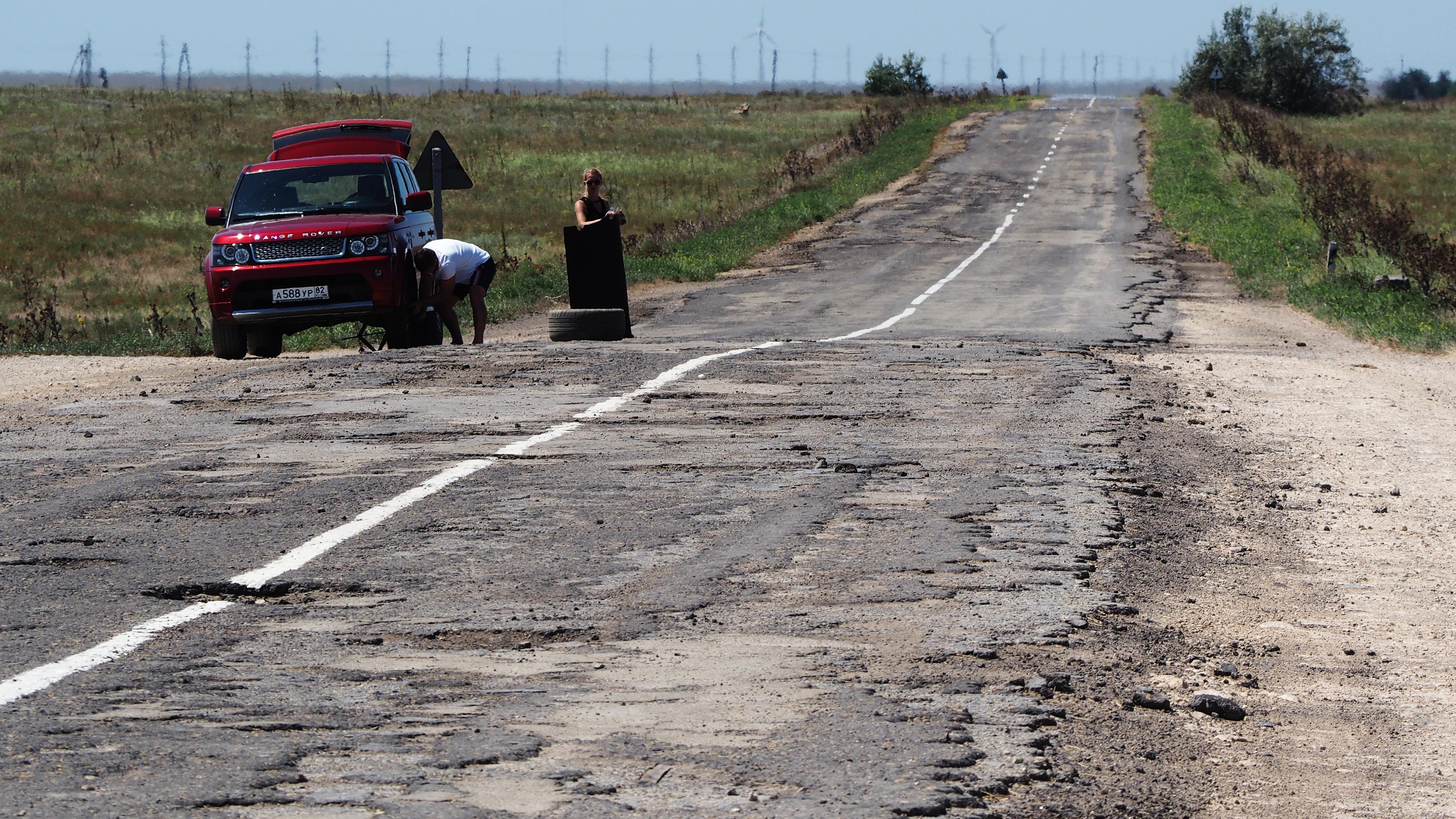 ужасающее состояние дорог в Крыму